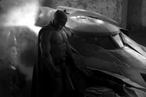 Ben Affleck prenant la pose pour Zack Snyder (Droits réservés)