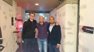 De gauche à droite: Nicolas Meyer (image et montage), Anastase Liaros (Réalisation, Scénario, Montage), Patrick Vaucher (Production), NIFFF 2014