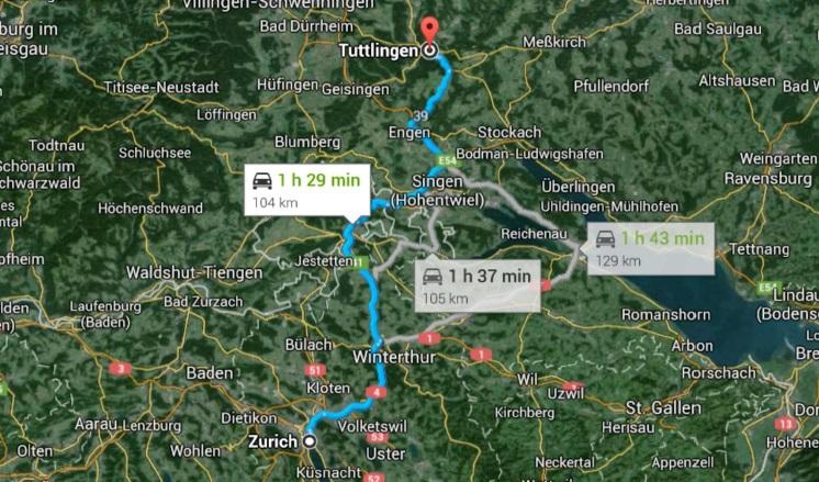 Google maps / Tous droits réservés