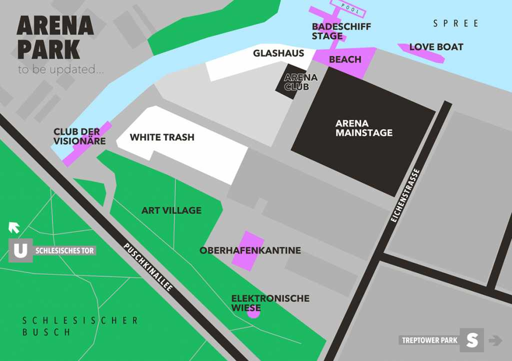Plan du complexe du Berlin Festival.