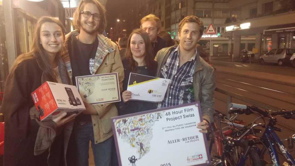 """L'équipe """"Imajack"""", émue après avoir remporté l'édition lausannoise 2015!"""